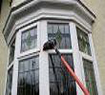 Cleaning bay window